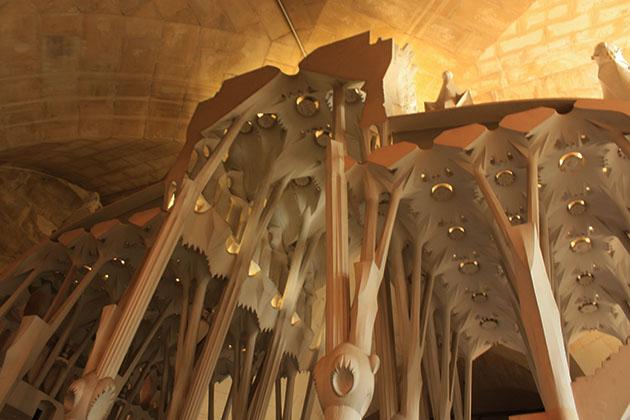 Columns Inside Sagrada Familia