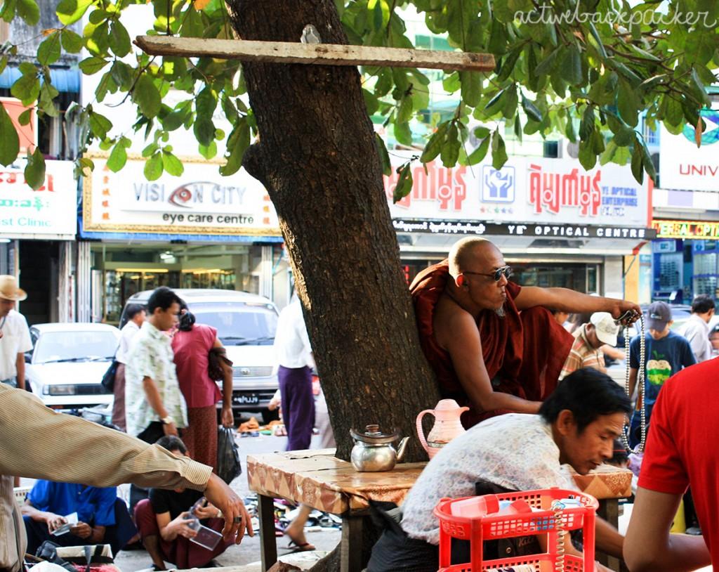 Cool Monk in Yangon
