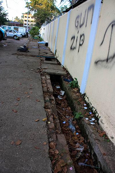 Footpath in Yangon