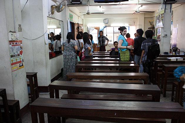 Speaking English classroom in Yangon