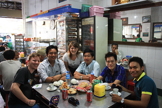 English students in Yangon