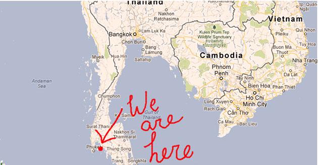 Where Ao Nang is in Thailand