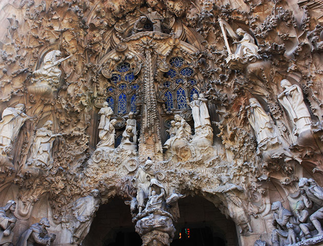 Sculptures Outside Sagrada Familia