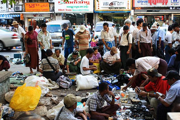 Street Markets Yangon