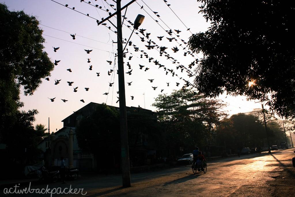 Sunrise in Yangon