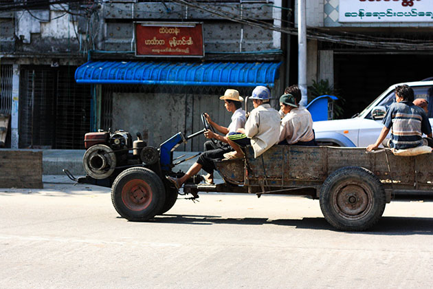 Tractor Transport Yangon