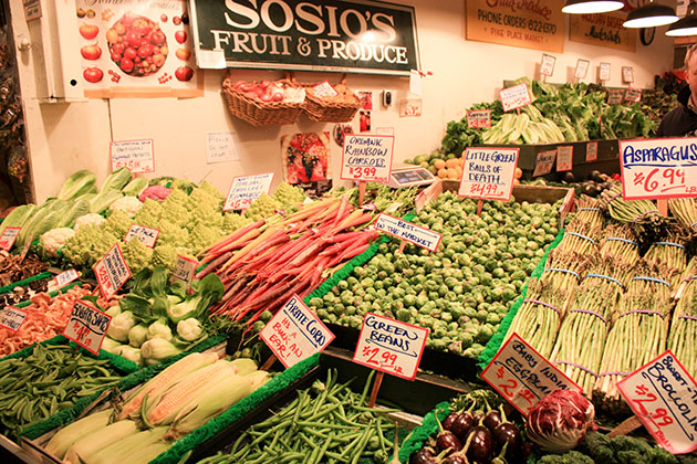 produce in Pike Place
