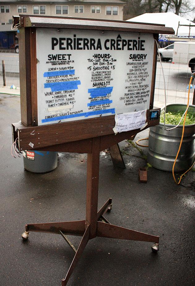 Sign of Food Truck Milkshakes