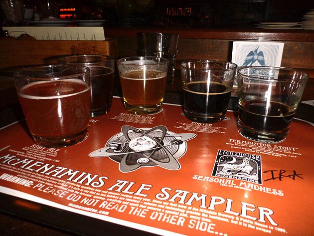 McMenamins Beer Sampler Tray
