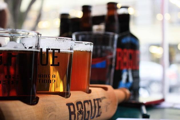 Rogue Beer Selection In Portland