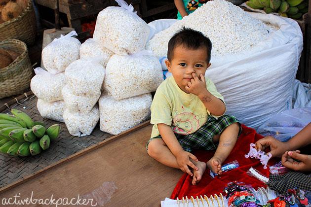 Myanmar Baby Picks Nose