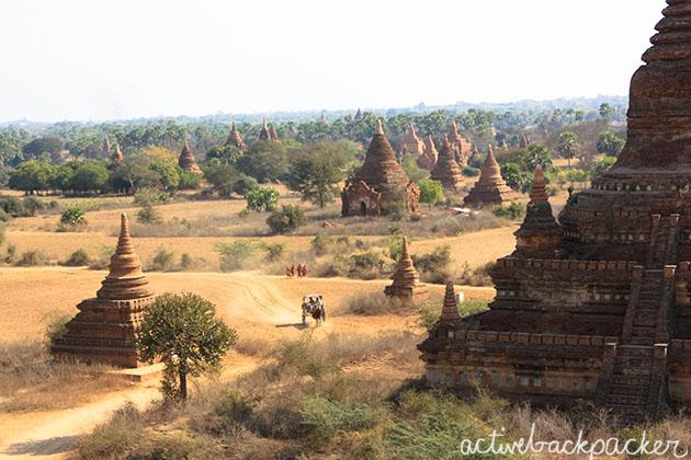 Bagan Monks and Horse Carts