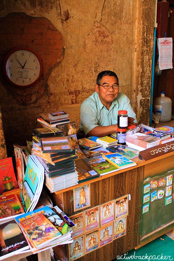 Myanmar Man Selling Books