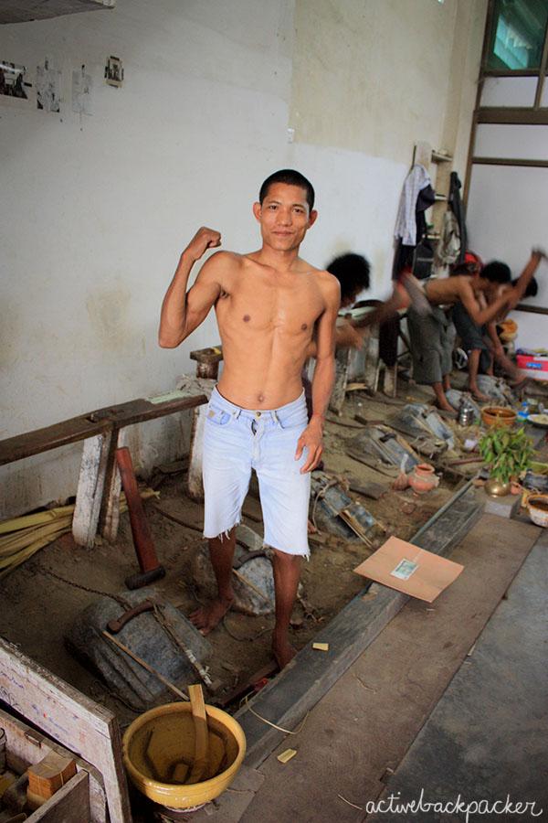 Gold Leaf Hammer Man Burma