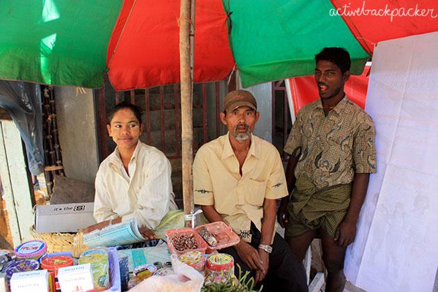 Man in Myanmar (Burma) grins at camera.