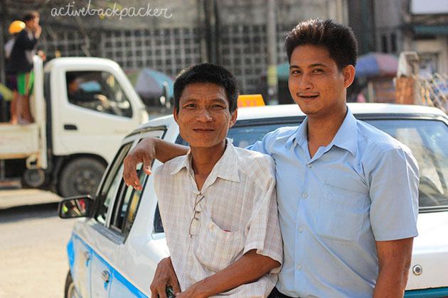 Friendly Taxi Drivers Myanmar