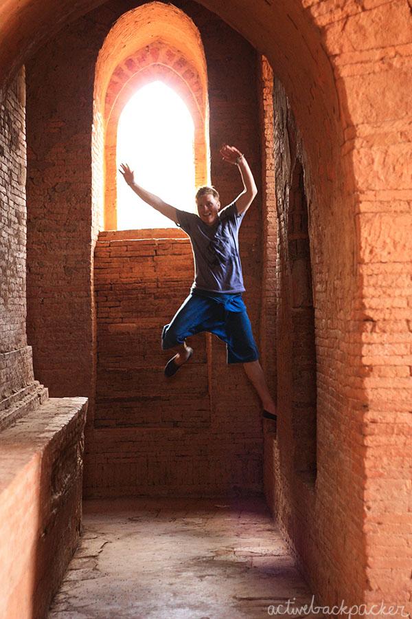 Tom Jumping Temple Bagan