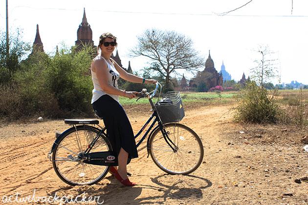 Bicycle and Bagan Temples