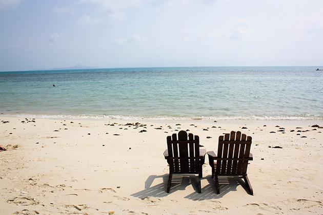 beach chairs Koh Phangan